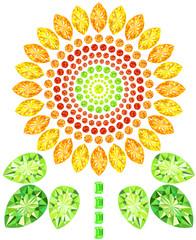Sunflower gemstones