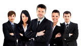 Large business team isolated over a white background