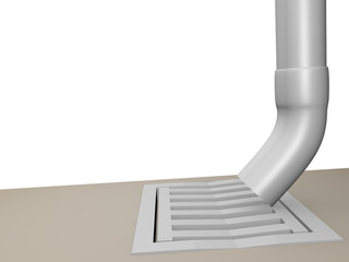gutter with Gulli exempt - 3D
