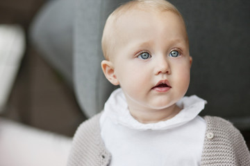 Close-up of a baby girl