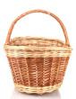 empty basket isolated on white