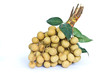 Bunch of longan on white background