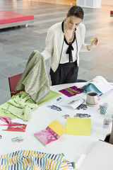 Female fashion designer working in an office