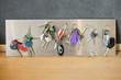 Assorted keys on a metal sheet