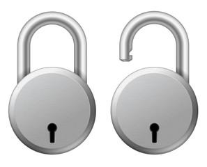 Steel padlock