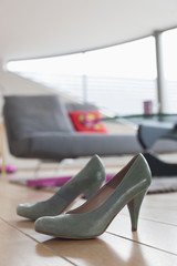 Close-up of a pair of high heels