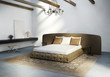 Vintage contemporary modern, luxury  leather bedroom