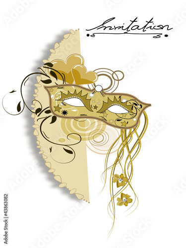 Danu   Fotolia.com Carneval, Fasching Maske Einladung