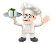 Chef with present