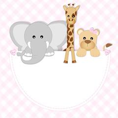 baby animals - leonessa, elefante, giraffa