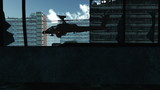 Apache Opens Fire in City under Siege   Realistic 3D render low  poster