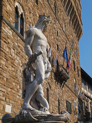 Statue of Neptune in Florence, Italy.