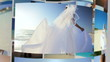 Montage 3D Images Caucasian Couple Wedding Day