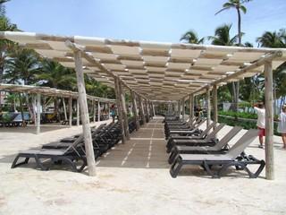 descanso y sombras bajo el sol tropical