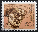 A stamp printed in Germany shows Herman Hesse
