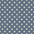 Vector seamless pattern beige polka dots on navy blue background