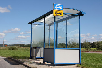 Small Town Bus Stop Shelter