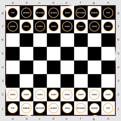 chess sign and icon vector