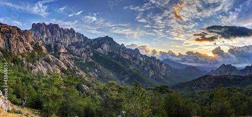 Leinwandbilder,uhrzeigersinn,berg,berg,korsika