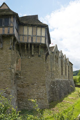 Hall and Moat at Stokesay Castle, Shropshire, England