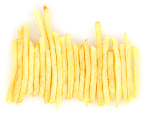 Potatoes fries isolated on white