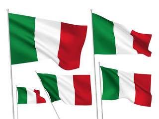 Italy vector flags