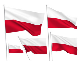 Poland vector flags