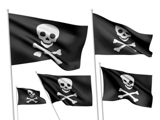 Jolly Roger vector flags (simple version)