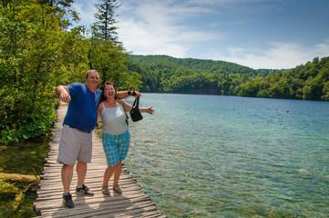 Couple at lake