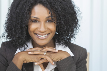 Beautiful Smiling African American Woman Businesswoman