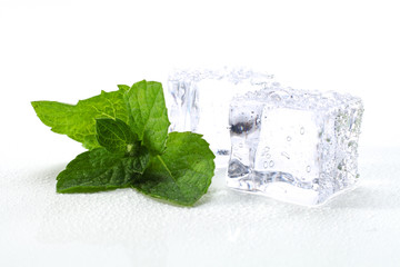 decoration of mint and ice