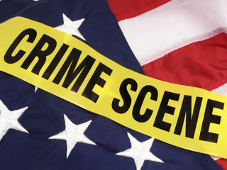 Crime Scene In America, American Flag