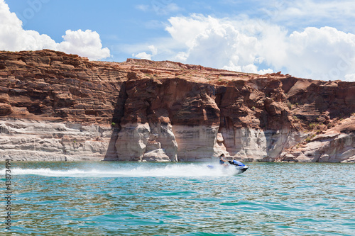 Lake Powell, in Glen Canyon  in Utah and Arizona - 43873494