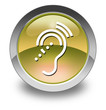 "Yellow Glossy Pictogram ""Hearing Impairment"""