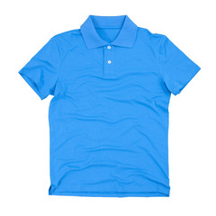 Polo shirt isolated on white. Clipping paths included.