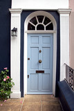 Light blue door