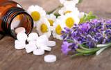 Fototapety Schüssler Salze mit Kamille und Lavendel
