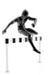 Atleta superando obstáculo en la carrera