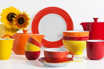Multi colored Dishware