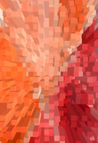 An abstract background with cubes and red color - 43878432