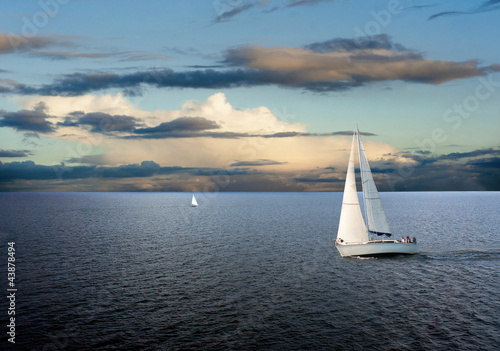 Leinwanddruck Bild Sail boat