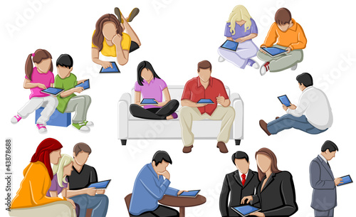 Group of people with tablets