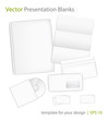 Templates set of corporate identity for presentation. Eps10