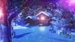 Christmas Snowy Scene 3D animation 07