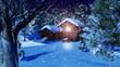 Christmas Snowy Scene 3D animation 06