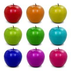 Apfel Set in Regenbogenfarben 2