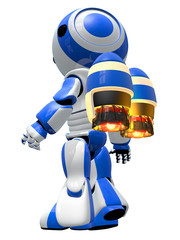 Robot Rocketeer with Jet Pack