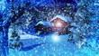 Christmas Snowy Scene 3D animation 03
