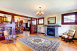 Beautiful old craftsman style home living room interior.