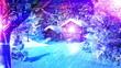 Christmas Snowy Scene 3D animation 02